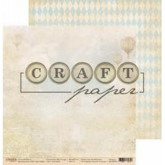 Лист бумаги для скрапбукинга CraftPaper ГАЗЕТНЫЙ коллекция Bon Voyage 30х30см