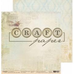 Лист бумаги для скрапбукинга CraftPaper ПОЛЕТ коллекция Bon Voyage 30х30см