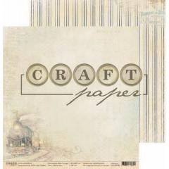 Лист бумаги для скрапбукинга CraftPaper ПОПУТЧИК коллекция Bon Voyage 30х30см
