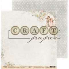 Лист бумаги для скрапбукинга CraftPaper ВМЕСТЕ коллекция Детство 30х30см
