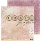 Лист бумаги для скрапбукинга CraftPaper ДНЕВНИК коллекция Гербарий 30х30см
