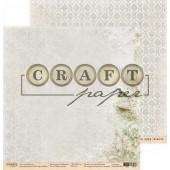 Лист бумаги для скрапбукинга CraftPaper ПЕНИЕ ПТИЦ коллекция Гербарий 30х30см