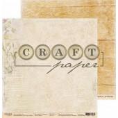 Лист бумаги для скрапбукинга CraftPaper ПЬЕСА коллекция Гербарий 30х30см