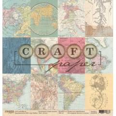 Лист бумаги для скрапбукинга CraftPaper АТЛАС коллекция Самая нужная 30х30см