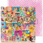 Лист бумаги для скрапбукинга CraftPaper ИСКУССТВО коллекция Поп-арт 30х30см