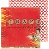 Лист бумаги для скрапбукинга CraftPaper POP! коллекция Поп-арт 30х30см