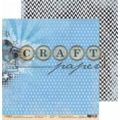 Лист бумаги для скрапбукинга CraftPaper МУЗЫКА коллекция Поп-арт 30х30см