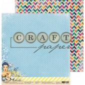 Лист бумаги для скрапбукинга CraftPaper ГОЛУБОЙ коллекция Поп-арт 30х30см