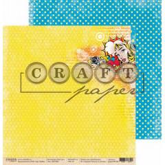 Лист бумаги для скрапбукинга CraftPaper BOOM! коллекция Поп-арт 30х30см