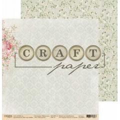 Лист бумаги для скрапбукинга CraftPaper НОСТАЛЬГИЯ коллекция Чайная роза 30х30см