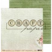 Лист бумаги для скрапбукинга CraftPaper СИМФОНИЯ коллекция Чайная роза 30х30см