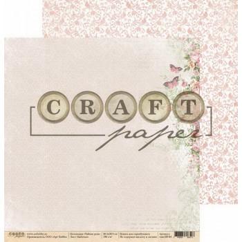 Лист бумаги для скрапбукинга CraftPaper БАБОЧКИ коллекция Чайная роза 30х30см