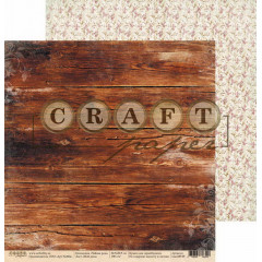 Лист бумаги для скрапбукинга CraftPaper МОЙ ДЕНЬ коллекция Чайная роза 30х30см