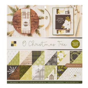 Набор бумаги для скрапбукинга DCWV O CHRISTMAS TREE 30х30см