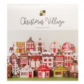 Набор заготовок для домиков DCWV CHRISTMAS VILLAGE