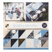 Набор бумаги для скрапбукинга DCWV WINTER WONDER 30х30см