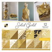 Набор бумаги для скрапбукинга DCWV SOLID GOLD 30х30см