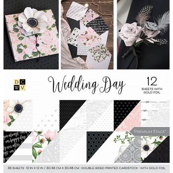 Набор бумаги для скрапбукинга DCWV WEDDING DAY 30х30см