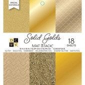 Набор кардстока DCWV SOLID GOLDS 15х15см