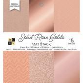 Набор кардстока DCWV SOLID ROSE GOLDS 15х15см