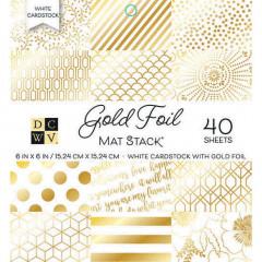 Набор кардстока DCWV GOLD FOIL 15х15см
