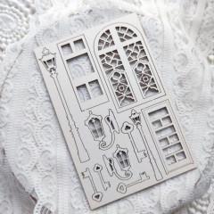 Набор чипборда из коллекции Dreamlight Studio DREAMS COME TRUE Фонари 10х15см