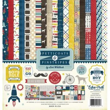 Набор бумаги Echo Park 30x30 Pinstripes полный (распродажа)