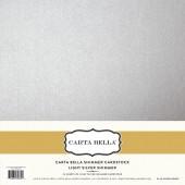 Лист блестящего кардстока Carta Bella LIGHT SILVER SHIMMER 30х30см