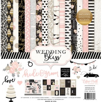 Набор бумаги для скрапбукинга Echo Park WEDDING BLISS 30х30см