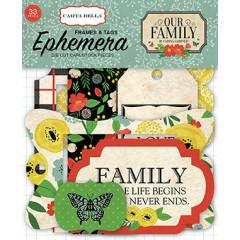 Набор высечек и тегов для украшения Carta Bella OUR FAMILY