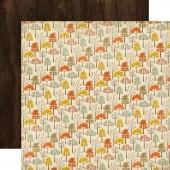Лист бумаги для скрапбукинга Carta Bella ОСЕННИЕ ДЕРЕВЬЯ коллекция Fall Blessings 30х30см