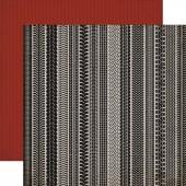Лист бумаги для скрапбукинга Carta Bella СЛЕДЫ ОТ КОЛЕС коллекция Work Hard Play Hard 30х30см