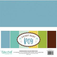 Набор однотонной бумаги для скрапбукинга Echo Park SWEET BABY BOY 30х30см