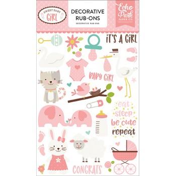 Натирки rub-ons для украшения Echo Park SWEET BABY GIRL