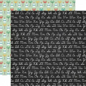 Лист бумаги для скрапбукинга Echo Park CHALKBOARD CURSIVE коллекция Back to School 30х30см