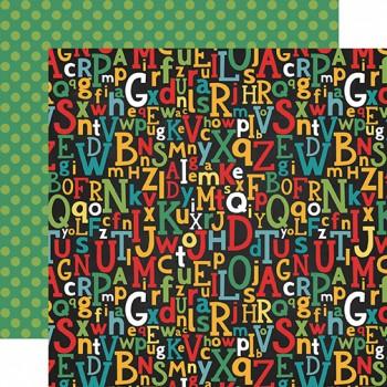 Лист бумаги для скрапбукинга Echo Park ALPHABET SCRAMBLE коллекция Back to School 30х30см
