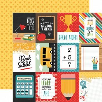 Лист бумаги для скрапбукинга Echo Park JOURNALING CARDS коллекция Back to School 30х30см