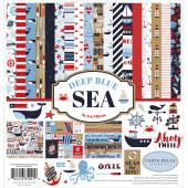 Набор бумаги для скрапбукинга Carta Bella DEEP BLUE SEA 30х30см