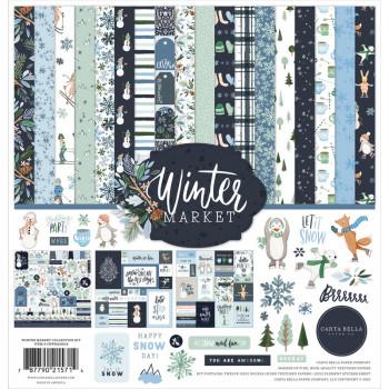 Набор бумаги для скрапбукинга Carta Bella WINTER MARKET 30х30см