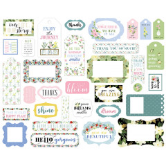 Набор высечек Carta Bella FLORA No.4 Frames and Tags
