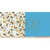 Лист бумаги для скрапбукинга EcoPaper МОТЫЛЬКИ коллекция Атлас Бабочек 30х30см