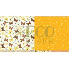 Лист бумаги для скрапбукинга EcoPaper НИМФАЛИДЫ коллекция Атлас Бабочек 30х30см