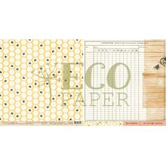 Лист бумаги для скрапбукинга EcoPaper УЛЕЙ коллекция Атлас Бабочек 30х30см