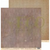 Лист бумаги для скрапбукинга EcoPaper СТАРЫЕ ОБОИ коллекция Старые письма 30х30см