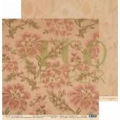 Лист бумаги для скрапбукинга EcoPaper ГОБЕЛЕН коллекция Старые письма 30х30см