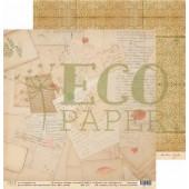Лист бумаги для скрапбукинга EcoPaper МОИ ТАЙНЫ коллекция Старые письма 30х30см