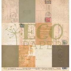 Лист бумаги для скрапбукинга EcoPaper КАРТОЧКИ коллекция Старые письма 30х30см