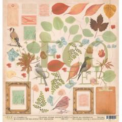 Лист бумаги для скрапбукинга EcoPaper СУХОЦВЕТЫ коллекция Старые письма 30х30см