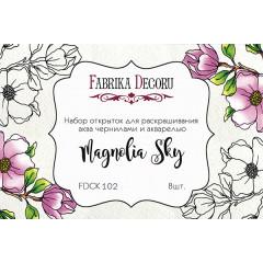 Набор открыток для раскрашивания акварелью Фабрика Декора MAGNOLIA SKY