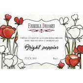 Набор открыток для раскрашивания акварелью Фабрика Декора BRIGHT POPPIES